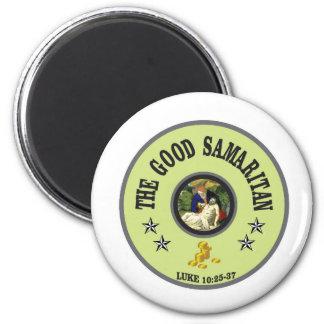good samaritan green back 2 inch round magnet