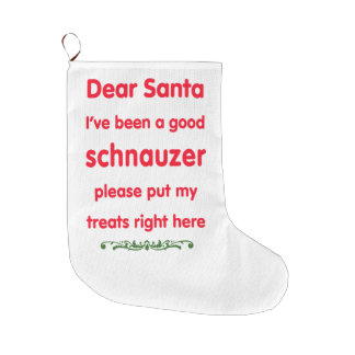 good schnauzer large christmas stocking