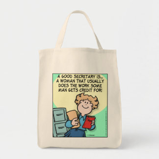 Good Secretary Grocery Tote Bag