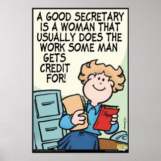Good Secretary Poster