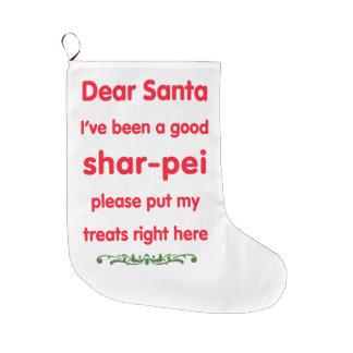 good shar-pei stocking large christmas stocking