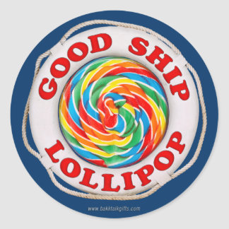 Good Ship Lollipop... Classic Round Sticker