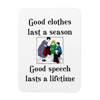 Good Speech School Saying Flexi Magnet