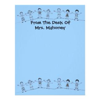Good Students Cute Teacher Letterhead Stationery