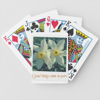 good things come in pairs bicycle playing cards