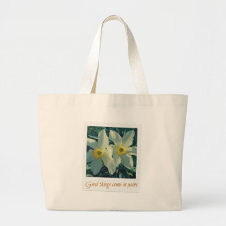 good things come in pairs large tote bag