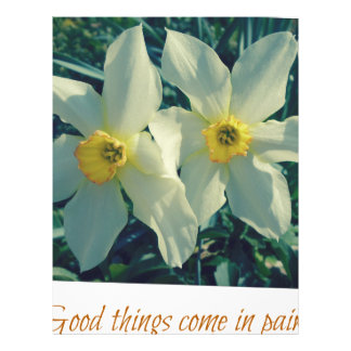 good things come in pairs letterhead