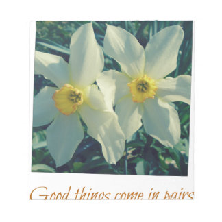 good things come in pairs notepad