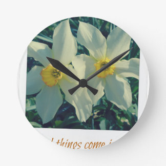 good things come in pairs wall clocks