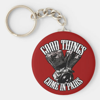 Good Things Come Pairs Keychain