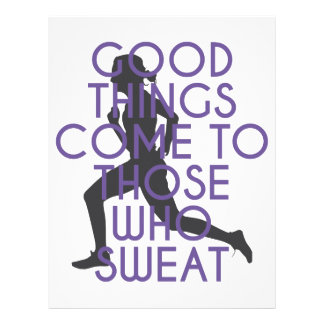 Good Things Come to Those Who Sweat Letterhead