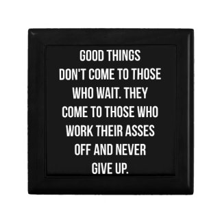 Good Things, Never Give Up - Workout Inspirational Gift Box