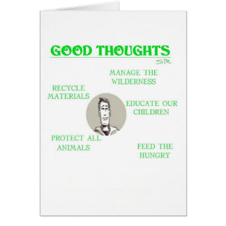 Good Thoughts get well greeting card