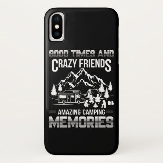 Good Times Crazy Friend Camping Memories Case-Mate iPhone Case