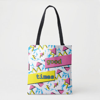 Good Times Memphis Retro Pattern Full Pattern Tote