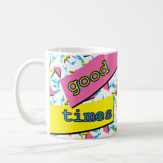 Good Times Memphis Retro Pattern Mug