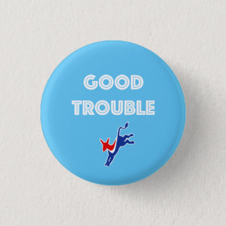 Good Trouble Donkey Round 1 Inch Round Button