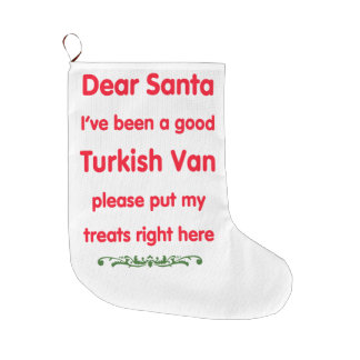 good Turkish Van Large Christmas Stocking