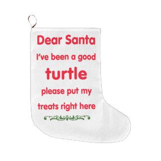 good turtle large christmas stocking