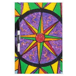 Good Vibe Mariner's Compass Mandala Dry Erase Board