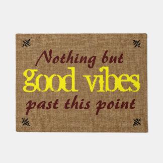 Good Vibe Positive Message Doormat