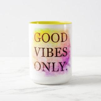 Good Vibes 15 oz Two-Tone Mug