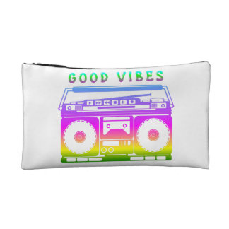 Good Vibes 80's Style Cosmetic Bag
