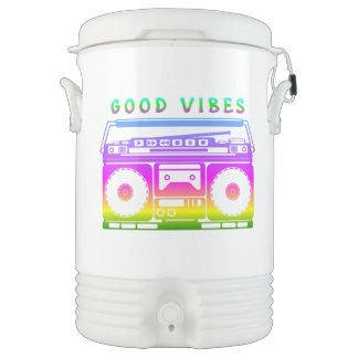 Good Vibes 80's Style Drinks Cooler