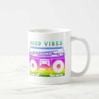Good Vibes Colorful Stereo Stencil Coffee Mug