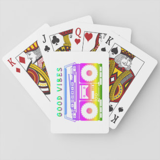 Good Vibes Colorful Stereo Stencil Playing Cards