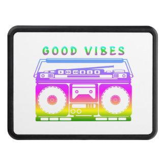 Good Vibes Colorful Stereo Stencil Trailer Hitch Cover