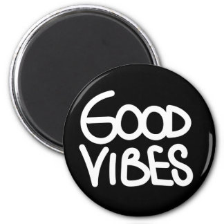 Good Vibes Handwriting (Choose Your Own Color) 2 Inch Round Magnet