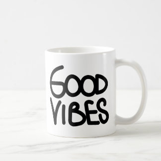 Good Vibes Handwriting (Choose Your Own Color) Classic White Coffee Mug