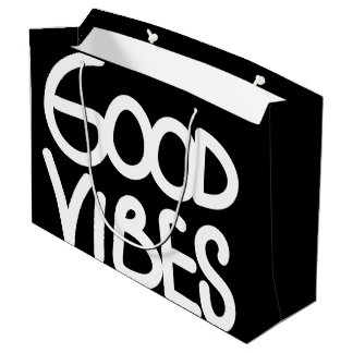 Good Vibes Handwriting (Choose Your Own Color) Large Gift Bag