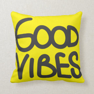 Good Vibes Handwriting (Choose Your Own Color) Throw Pillows