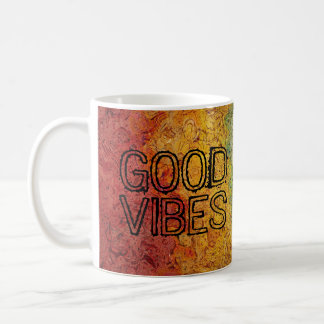 GOOD VIBES Happy Rainbow Colors Coffee Mug