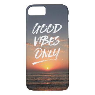 Good Vibes Only Beach Sunrise Calligraphy Quote iPhone 7 Case