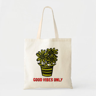 """Good Vibes Only"" Classic Tote Bag"