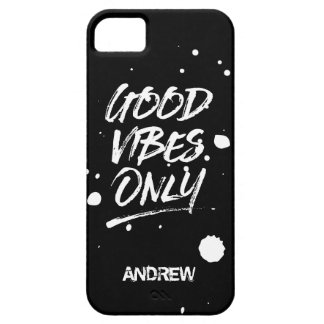 Good Vibes Only Inspirational Quotes Script iPhone 5 Cover
