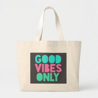 GOOD VIBES ONLY LARGE TOTE BAG
