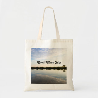 Good Vibes Only Nature Inspirational Custom Tote Bag