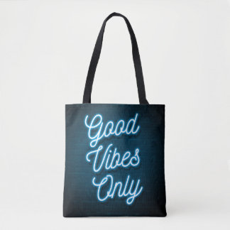 Good Vibes Only - Neon Tote Bag