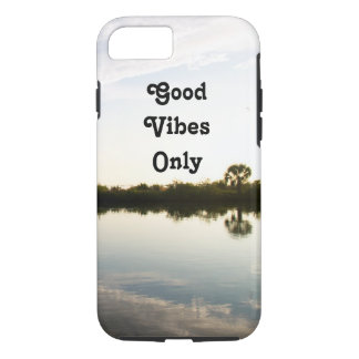 Good Vibes Only Palm Trees Water Custom iPhone 8/7 Case