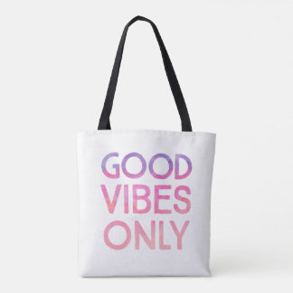 Good Vibes Only Pink everyday tote bag