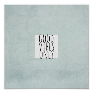 good vibes only quote poster typography word art