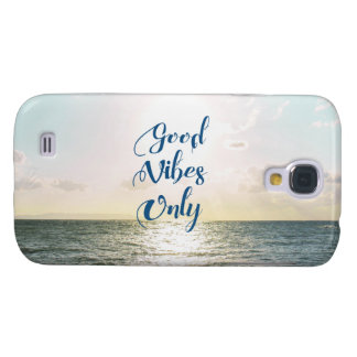 """""""Good Vibes Only"""" Quote Typography Sea Sun"""