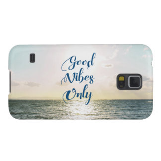 """Good Vibes Only"" Quote Typography Sea Sun Case For Galaxy S5"