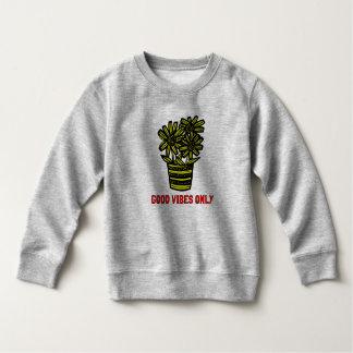 """""""Good Vibes Only"""" Toddler Fleece Sweatshirt"""