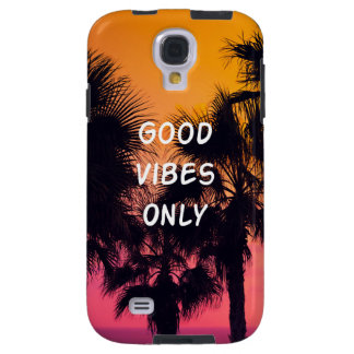 """""""Good Vibes Only""""  Tropical Beach Palms Sunset"""