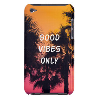 """""""Good Vibes Only""""  Tropical Beach Palms Sunset Barely There iPod Covers"""